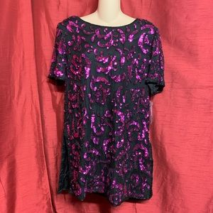 Papéll Boutique Evening Sequined Top Size Large